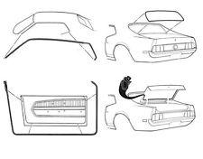 Mustang Rubber Kit Door Screen Trunk Weatherseals Seals 1971 1972 71 73 Fastback
