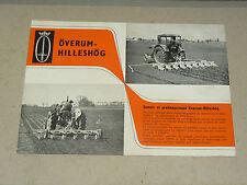 Prospectus Semoir OVERUM HILLESHOG BOLINDER'S 1958  Tracteur Tractor Prospekt