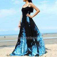 Black Maxi Dress Plus Size Party Coast Summer Evening Ball Gown L XL 1X 2X 3X 4X