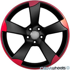 18 SATIN RED SLINE STYLE WHEELS FITS AUDI A5 S5 RS5 B8 8T COUPE CABRIOLET RIMS