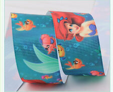 "1"" 25mm THE LITTLE MERMAID ARIEL GROSGRAIN RIBBON 3YARDS Hair Bow DIY /Head Band"