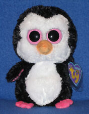 """TY BEANIE BOOS BOO'S - PADDLES the 6"""" PENGUIN - MINT with MINT TAGS"""
