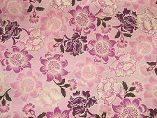BTY Lav, Purple, White FLORAL Print 100% Cotton Quilt Crafting Fabric by Yard