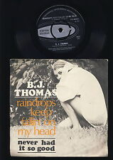 B.J. Thomas -  Raindrops Keep fallin' om My Head - Never Had it so Good -DENMARK