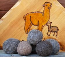 PACKAGE of 3 NATURAL ALPACA WOOL DRYER BALLS fabric softener Made in USA