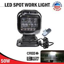 50W CREE Wireless LED Auto Search Spot Light Remote Control Worklight Lamp 12V
