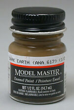 Testors Model Master Dark Earth ANA617 1/2oz Enamel Paint 2054 TES2054