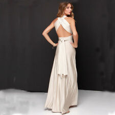 Women Multi Way Wrap Convertible Formal Evening Dress Prom Maxi Ball Gown Prom