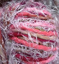 4 x 100g Decorative Wool Yarn, Pink/ Multi-colour. Knit/Crochet/Weave/Textiles