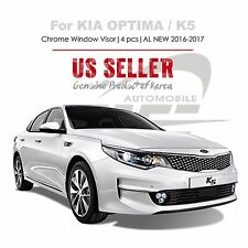 Chrome Window Vent Visor Rain Guard Tape On Out Channel For KIA Optima 16-17 NEW