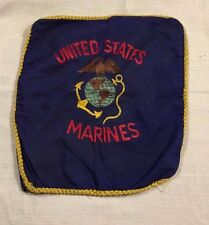 Vintage WWII Era United States Marine Corps Embroidered Sweetheart Pillowcase