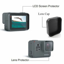 For GoPro Hero 5 Lcd Screen + Lens Protector Film Folil + Lens Cap