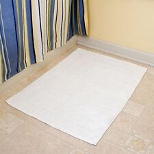 """WHITE 20"""" x 30"""" BATHROOM BATH MATS 100% COTTON ( ONE EACH ) 7 LBS GYMS/SPAS"""