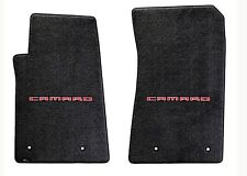 NEW! BLACK FLOOR MATS 2010-2015 Camaro Embroidered Logo in Red on Both mats