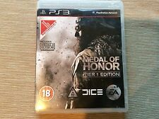 Medal Of Honor Tier 1 Edition PS3 Game! Look At My Other Games