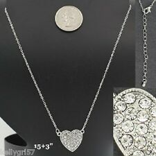 CRYSTAL HEART LOVE VALENTINE GIRLFRIEND WEDDING PROM GIFT NWT NECKLACE #339-C