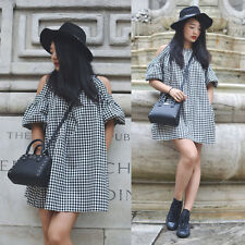 Zara Full Gingham Check Dress Size SMALL BNWT