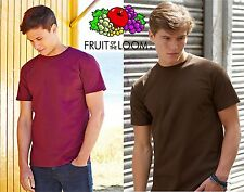 Stock 3 PEZZI T-Shirt FRUIT OF THE LOOM Maglietta SUPER PREMIUM Maniche Corte