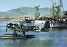 WWII Color Photo Luftwaffe Seaplane Ar 196  WW2  / 6024