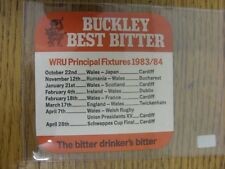1983/1984 Rugby Union: Buckley Beer Mat - 'Buckley Best Bitter, The Bitter Drink