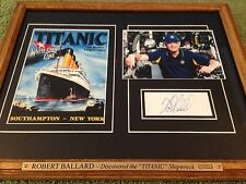 "ROBERT BALLARD Collectible Signed Autograph Frame-Discovered ""TITANIC"" Shipwreck"