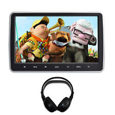 Universal Car HD Headrest DVD Player/Screen USB/SD/HDMI with Infrared Headphones
