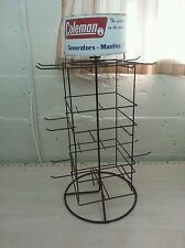 Vintage advertising display coleman rack sign lantern generator
