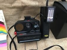 Polaroid Pronto Sonar OneStep Camera & Polatronic 2350 Flash Tested and Works