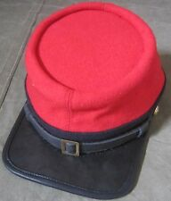 CIVIL WAR CSA CONFEDERATE ARTILLERY RED WOOL KEPI FORAGE CAP HAT-MEDIUM