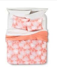 NEW 3-Piece King Size Duvet Cover And Shams Set ~ Floral Sketchy Blossoms ~ RE ~