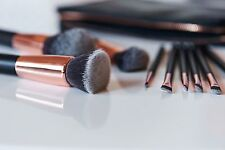 Casper & Lewis - Rose Gold Makeup Brushes - Mixed Brush Set with Clutch Pouch