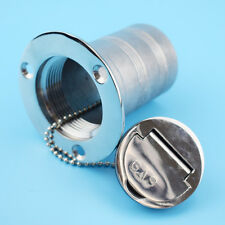 "1X Deck Fill / Filler Keyless Cap 2""- Gas Marine Stainless Steel Boat Yatch RV"