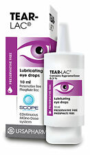 Tear-Lac Lubricating Eye Drops 10ml Preservative free 0.3% Hypromellose Scope