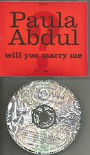 PAULA ABDUL Will You Marry me w/RARE EDIT PROMO Radio DJ CD single 1991 USA MINT