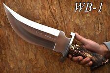 "OZAIR CUSTOM BIG BOWIE 1-OF-A-KIND CYBORG BOWIE 420 SS 5/16 "" BLADE KNIFE WB-1"