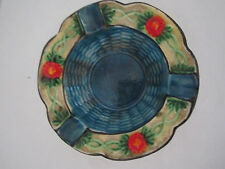 VINTAGE MARUHON WARE, HAND PAINTED FLORAL CERAMIC ASHTRAY JAPAN TOBACCIANA 4""