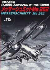 war ww2 MESSERSCHMITT Me262 Famous Airplanes of the world no 115 2006 JAPAN