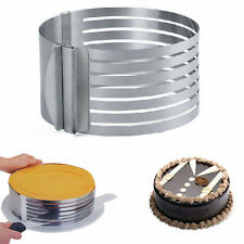 Adjustable Round Stainless Steel Mousse Cake Ring Mold Layer Slicer