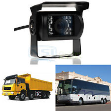 18 LED IR Night Vision Truck Bus Car Rear View Reverse Backup Camera Waterproof