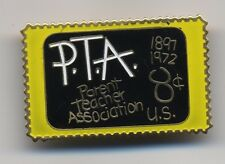 Vintage PTA Parent Teacher Association USA 8 cent USPS Postage Stamp Lapel Pin