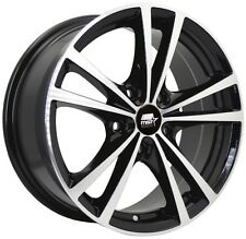 MST Saber 14x6.0 4x100 +45 72.69 Glossy Black w/Machined Face Wheels (Set of 4)