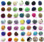 43Color Top Roving Needlefelting Wool Corriedale Dyed Spinning Wet Felting Fiber
