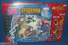 SPIDERMAN vs VENUM Mega Bloks 1931 Mary Jane Collectors Ed 1 New Marvel 280 pcs