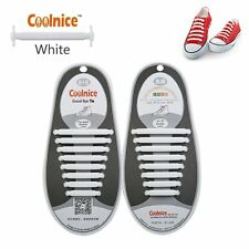 COOLNICE® | Elastic Silicone No Tie 'Lazy' Shoe Laces Shoelaces | Trainers Shoes