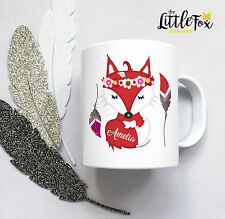 Personalised Plastic Unbreakable Kids Cup, Toddler Cup Adventure FOX for Girls