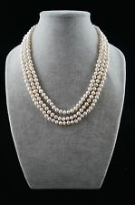 """Dr. Pearl 6-7 mm Baroque Triple Strand White Pearl Necklace 17""""/19""""/21"""""""