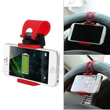 New Mobile Cell Phone Car Steering Wheel Mount Socket GPS Universal Clip Holder