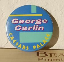 "GEORGE CARLIN at Caesars Palace Las Vegas 3"" Button Pin"