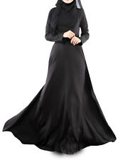 Muslim Womens maxi dress dubai abaya Islamic Clothing Arab Jilaba Long dress
