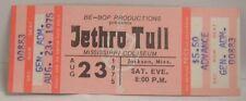 JETHRO TULL - VINTAGE 1975 UNUSED WHOLE CONCERT TICKET